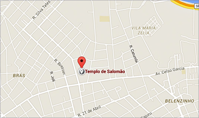 Mapa do Templo de Salomão